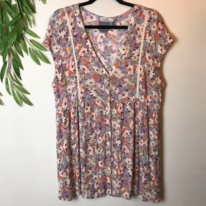Anthropologie Vanessa Virginia Floral Print Dress
